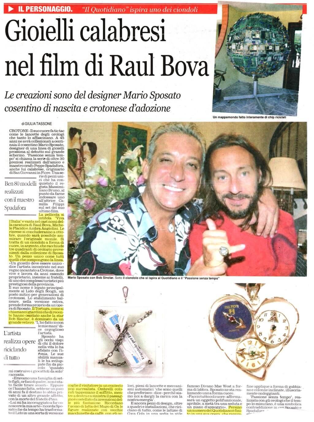 8 Il Quotidiano Della Calabria 4 9 2012 Mario Sposato